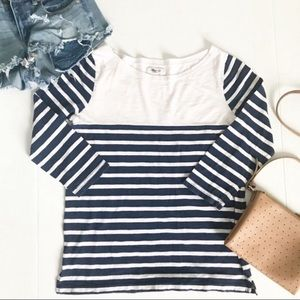 Madewell Basic Striped Boatneck Cotton Top